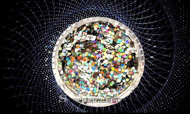 Land Moon-purpurina holográfica de color dorado y plateado, mezcla de 1mm/2mm/3mm/purpurina láser acrílica para decoración artística de uñas