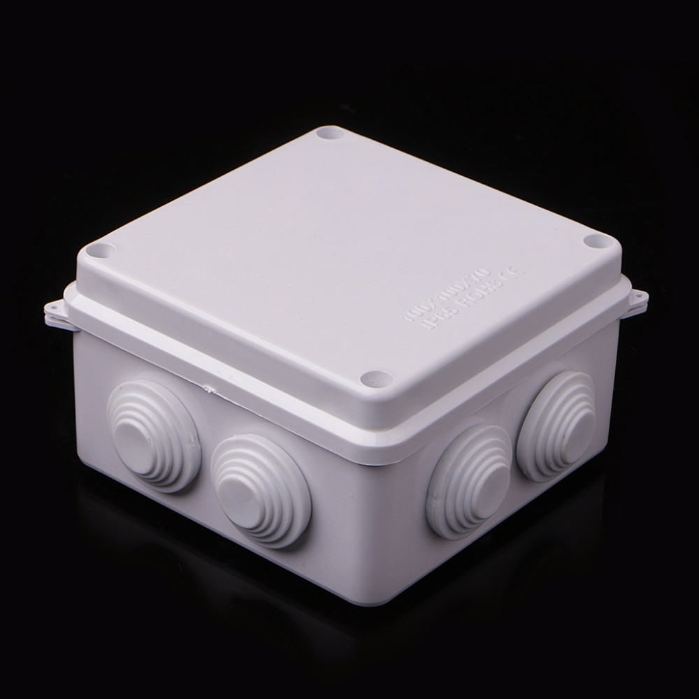 Waterproof Plastic Enclosure Case Power Junction Box IP65 100mm x 100mm x 70mm