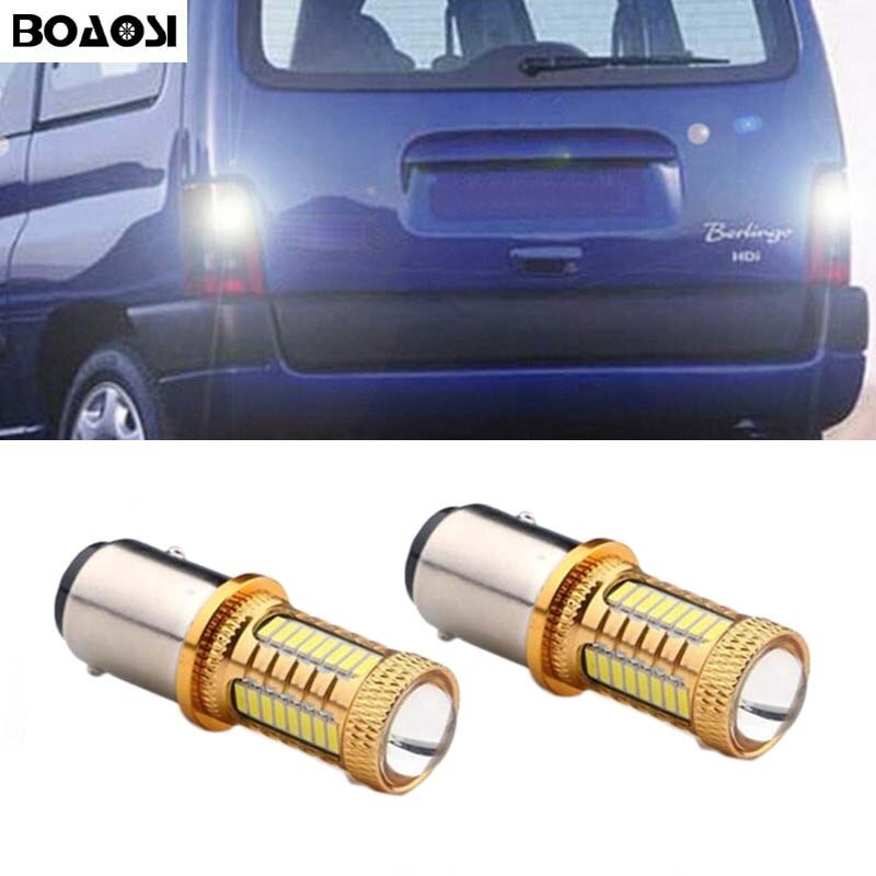 BOAOSI 2x luces LED para coche 4014 Chip CREE 1156 Ba15s S25 P21W luz de retroceso de marcha atrás bombilla para Citroen C2 C3 C4 C8 Elysee Picasso ZX