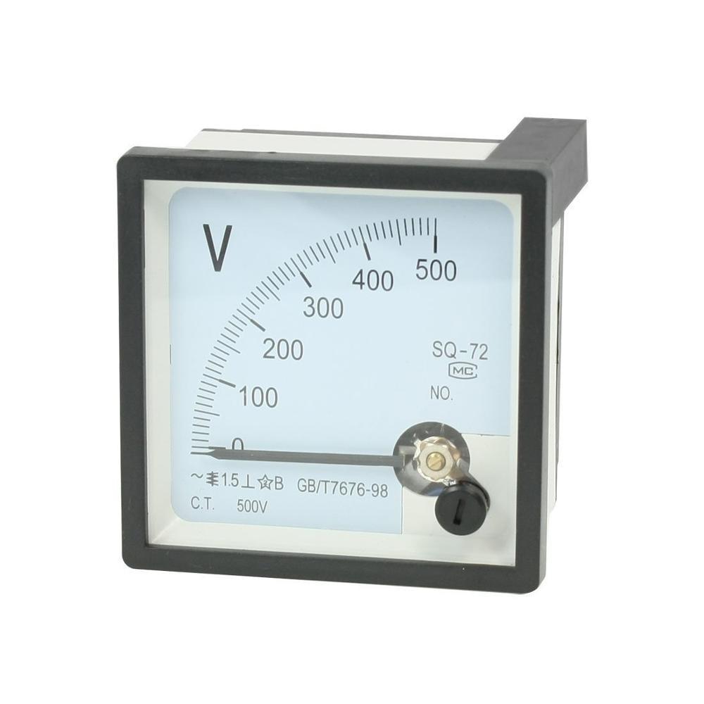 Sq-72 500 v classe 1.5 ac 0-300 v 450 v medidor quadrado analógico do voltímetro do painel do voltímetro
