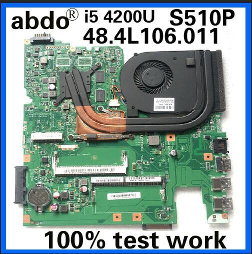 12293-1 48.4L106. 011 материнская плата для Lenovo S510P LS41P LS51P материнская плата для ноутбука CPU i5 4200U GT720M 2G DDR3 100% тестовая работа
