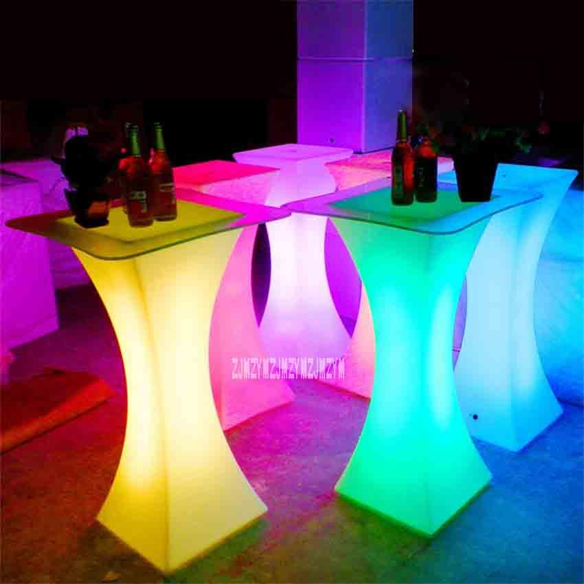 XC-018 الأوروبية LED ضوء بار الجدول قابلة للشحن Led مضيئة الجدول للماء مضاء القهوة الجدول بار kTV حزب التموين