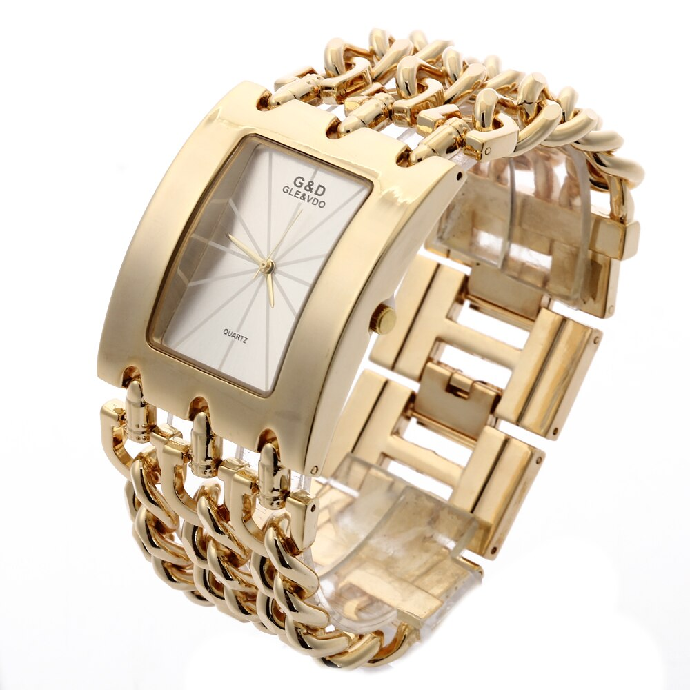 G&D Women's Watches Luxury Brand Gold Fashion Casual Quartz Wristwatch Ladies Dress Watch Relogio Feminino Clock Reloj Mujer