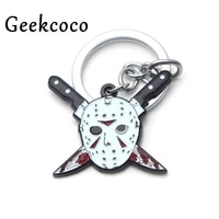 horror keychain personalized car key chain women bag key ring for patry favors gift couple jewelry present j0354