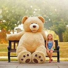 Haute qualité grande taille 200cm américain géant ours peau kawaii ours en peluche manteau offre spéciale usine prix doux jouets pour les filles