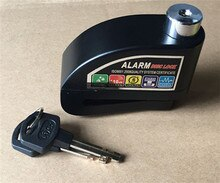 Universal alarme moto Moto rcycle schloss alarma Moto alarm Roller Fahrrad Disc Bremse Lock Security Anti-theft Alarm Lock + tasche