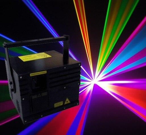 2 vatios láser rgb a todo color 2000mW RGB láser 2W rgb luces etapa DT30K escáner R 637nm/500 mW, G500mW, B1W + Flightcase