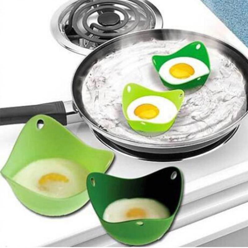 2 unids/lote de silicona huevo escalfador huevo tazas de cocina microondas hervidor de huevos huevo caldera 301-0325