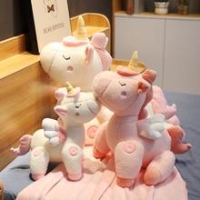 45/60/80cm Kawaii plush cartoon unicorn animal dolls children love holiday gifts movable plush doll kids toys