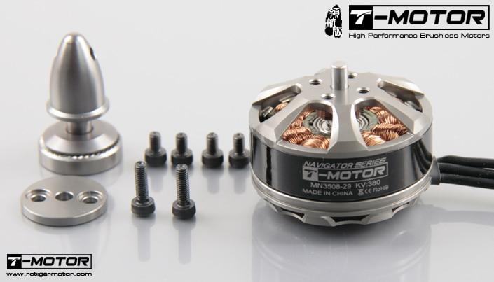 Motor sem escova pequeno do multi-rotor da eficiência elevada do t-motor mn3508 380kv (3-6 s)