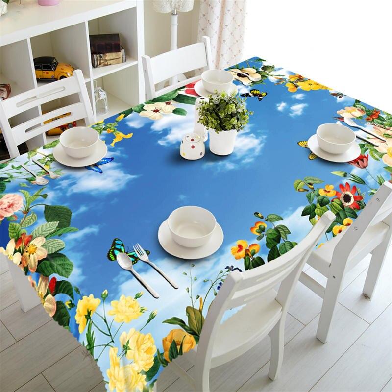 Mantel de Orquídea de polilla impermeable rectangular mantel de mesa de Picnic de boda cubierta de gabinete redondo funda de almohada de tamaño personalizado