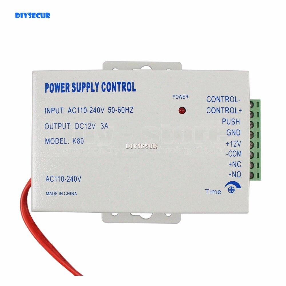 DIYSECUR Door Access Control Use DC 12V 3A /AC 110~240V Special Power Supply Brand NEW