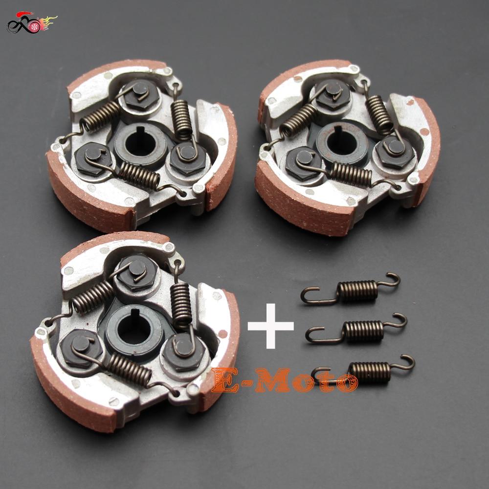 3 х полные алюминиевые колодки сцепления с пружиной 2-тактный 47cc 49cc газ Minimoto Мини Мото Карманный Байк ATV Quad Новый E-Moto