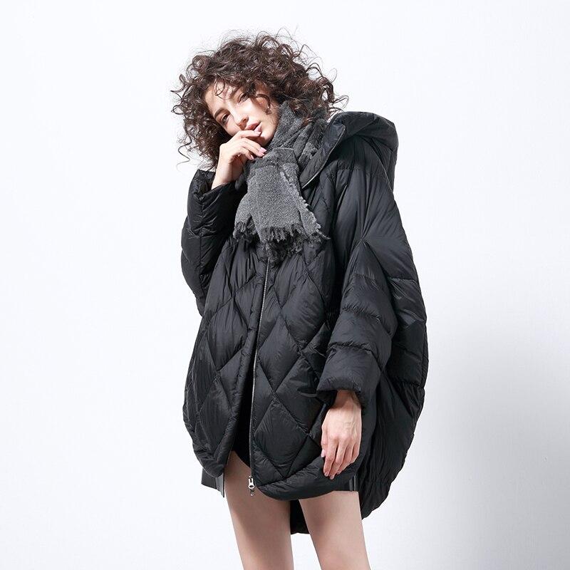 Inverno marca de moda ouro marrom manto estilo ganso branco para baixo casaco feminino oversize mais pele fofo quente parkas wq738