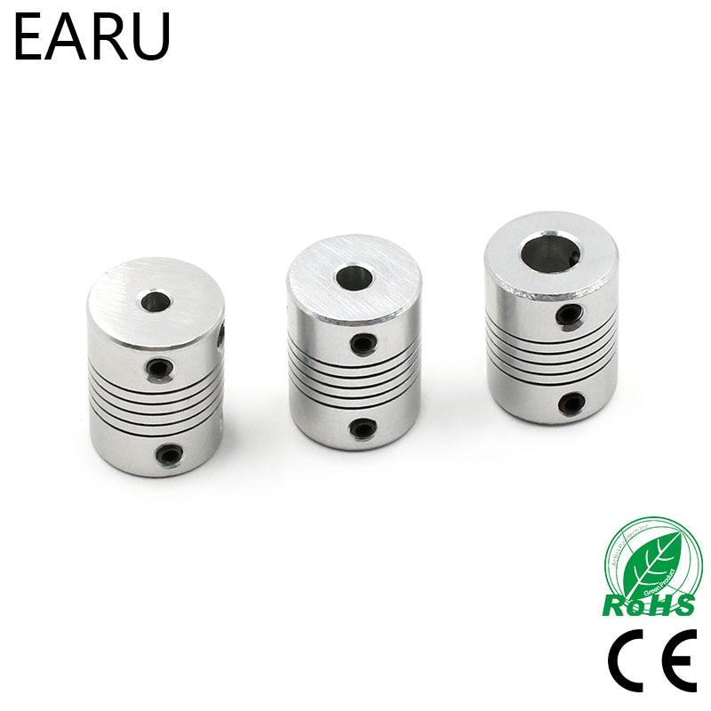 Acoplamento flexível de alumínio do eixo da maxila d19 * l25 3/4/5/6/6.35/7/8/10mm cnc encoders do acoplador do motor deslizante máquina de gravura