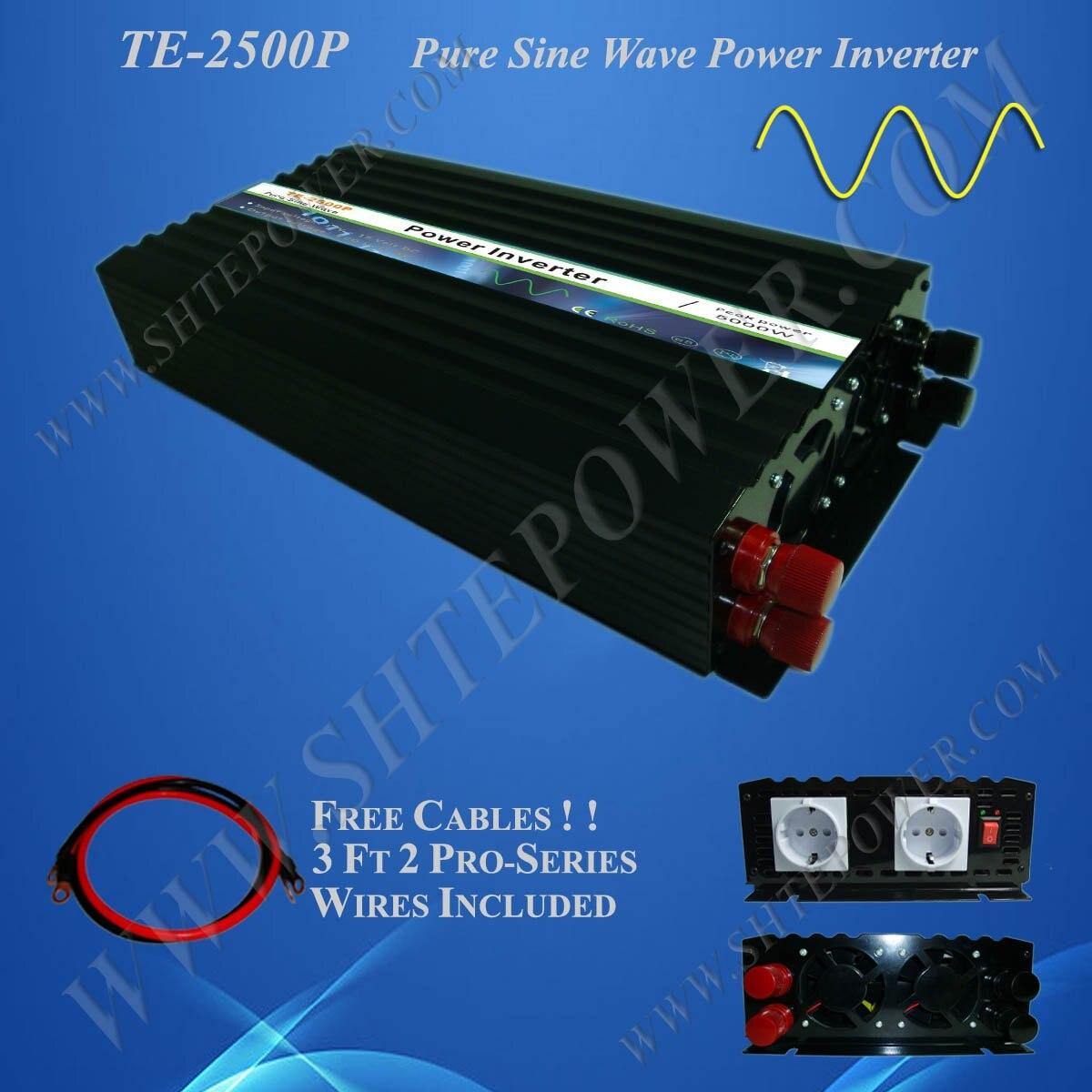 Venta de fábrica 2500W inversor de energía Solar de onda sinusoidal pura CC 48V a CA 230V