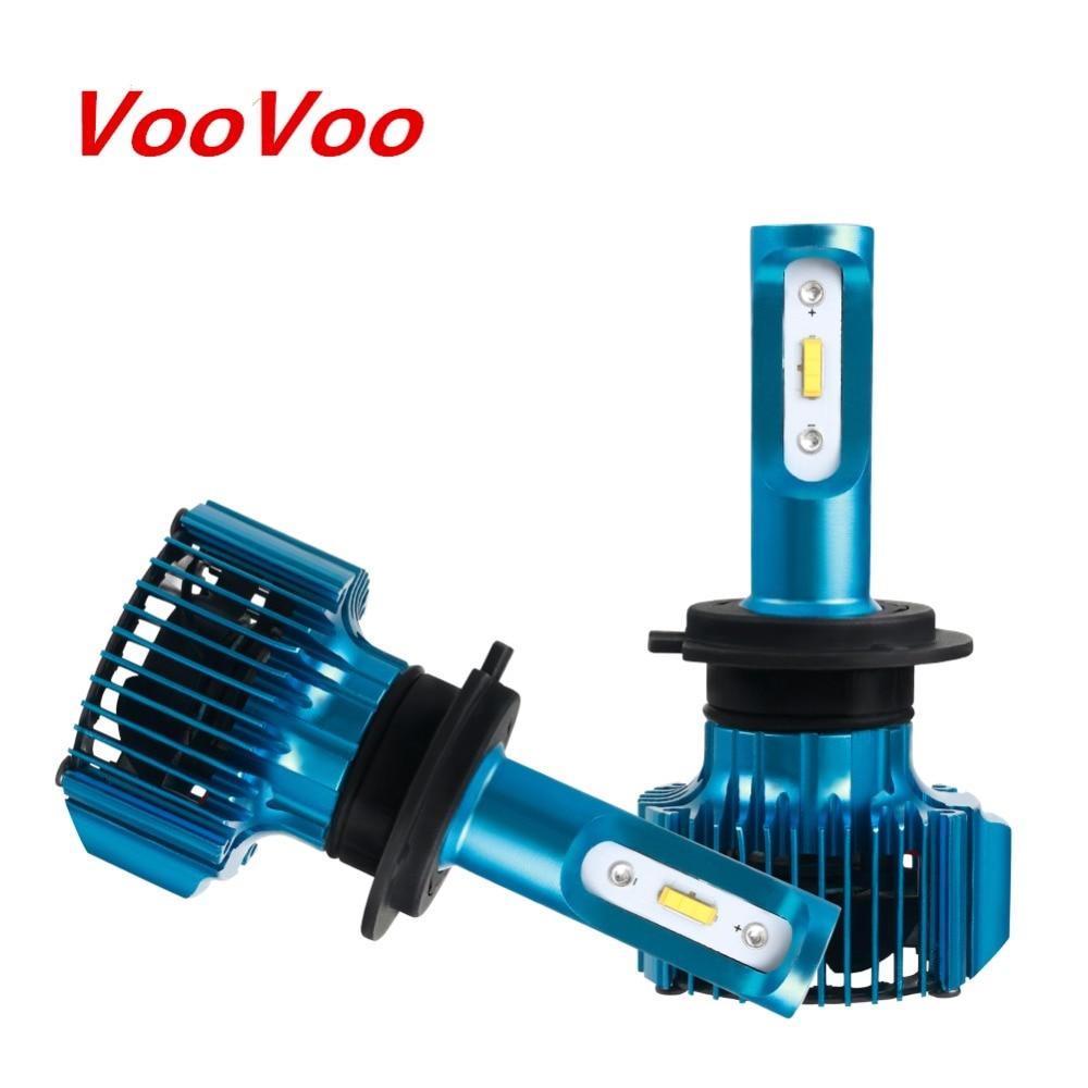 VooVoo H7 llevó la luz del coche H1 H4 H11 Bombillas de faros LED automóviles LED 12V faro lámpara Auto 12V 72W 15000LM H15 9005 de 9006 a 9012