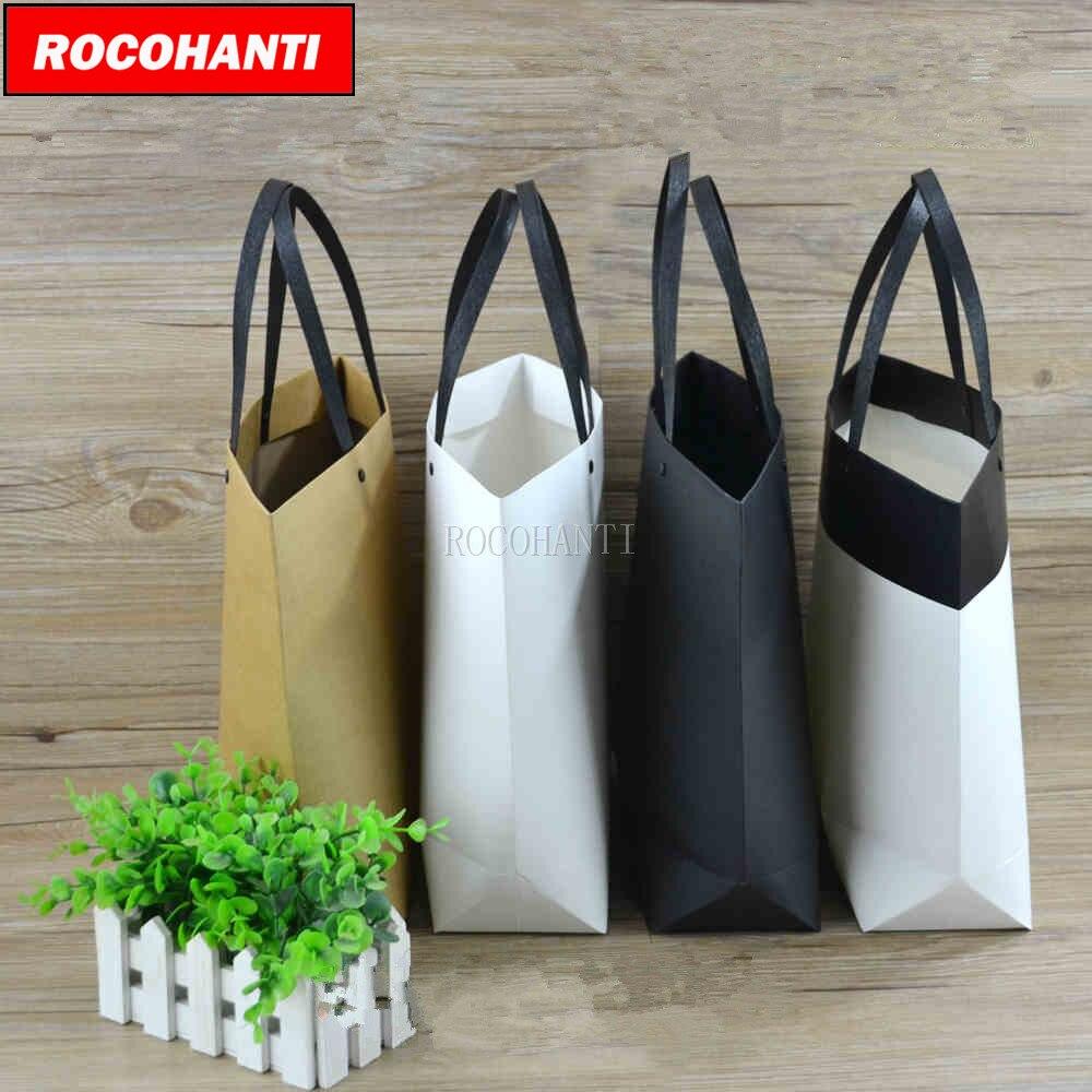50x Garment Papier Tasche Boot Griff Geschenk Taschen Angepasst LOGO Druck Verpackung Werbung Förderung Taschen