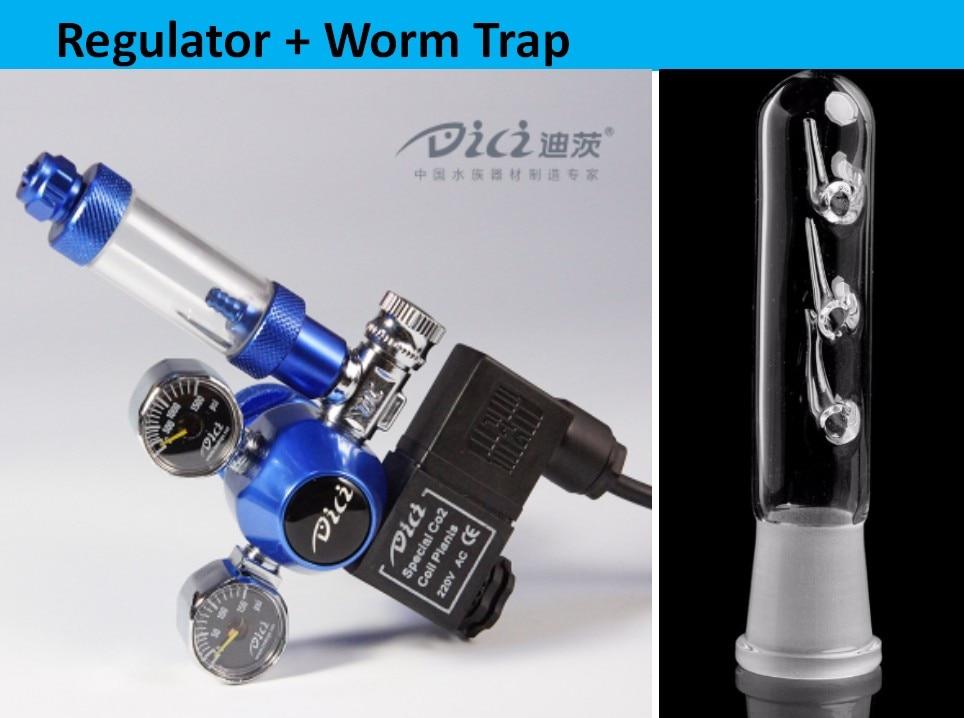 Regulador de Co2 Aquário Dici Duplo Calibres Verificar Contador Bolha 110 v – 220 W21.8 22mm g5 8 Cga320
