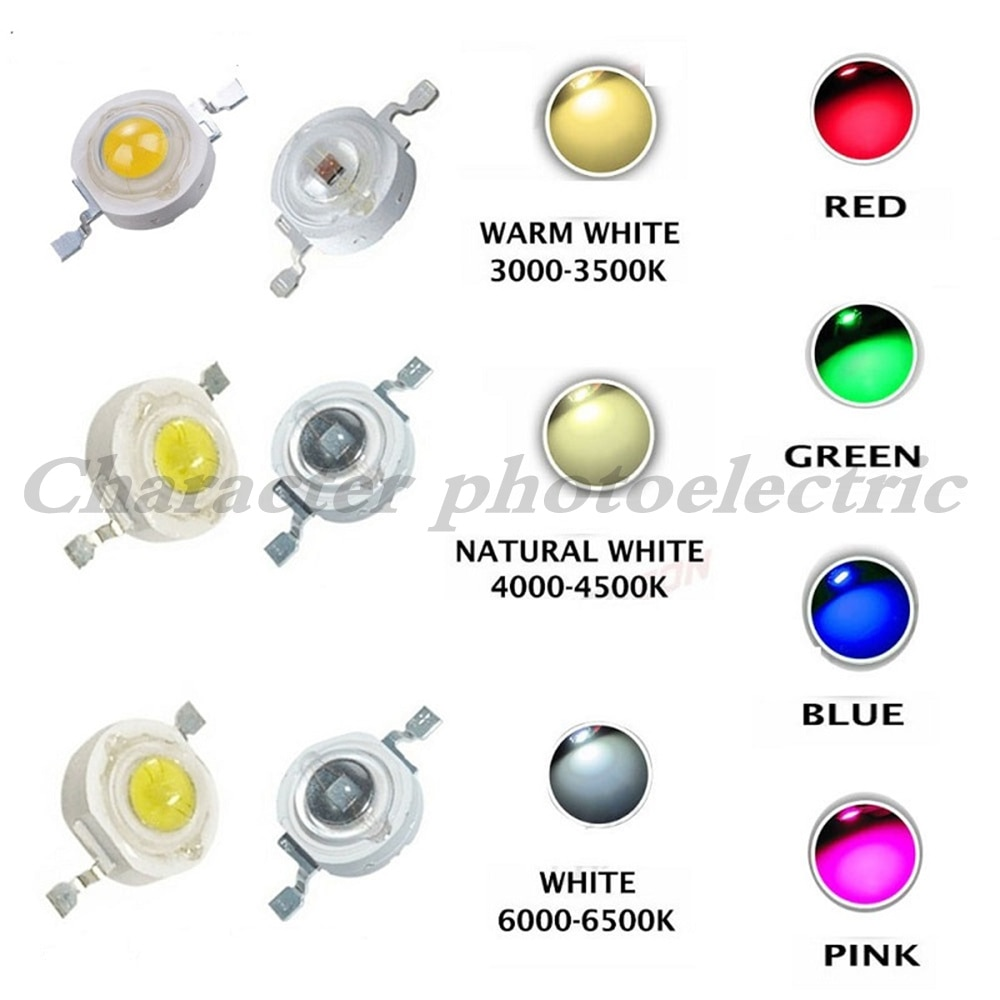 25pcs 3w cree high power led light emitting diode leds chip with aluminum star pcb warm white cold white red green blue yellow 100pcs 1W 3W LED High Power LEDs Cold White Natural White Warm White RGB Red Green Blue Yellow Light Source