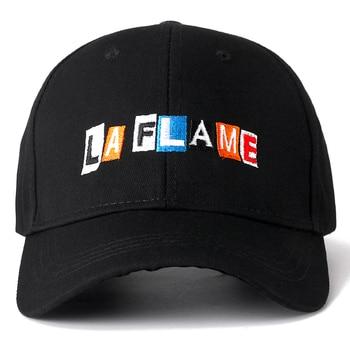 New Cotton Cap LA FLAME Dad Hat High Quality Travis Scotts Embroidery Baseball Caps High Quality Black Snapback Hat