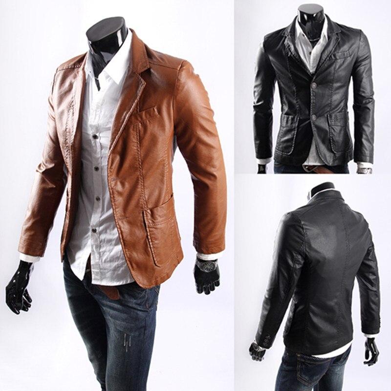 Tamanho grande 2018 novo estilo novo jaquetas de couro masculino masculino fino outerwear couro vestuário casaco tamanho M-7XL