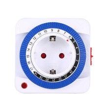 Interrupteur à minuterie 24 heures   Mécanique mis à terre, Programmable, prise de compte à rebours, alimentation automatique intérieure, 230V