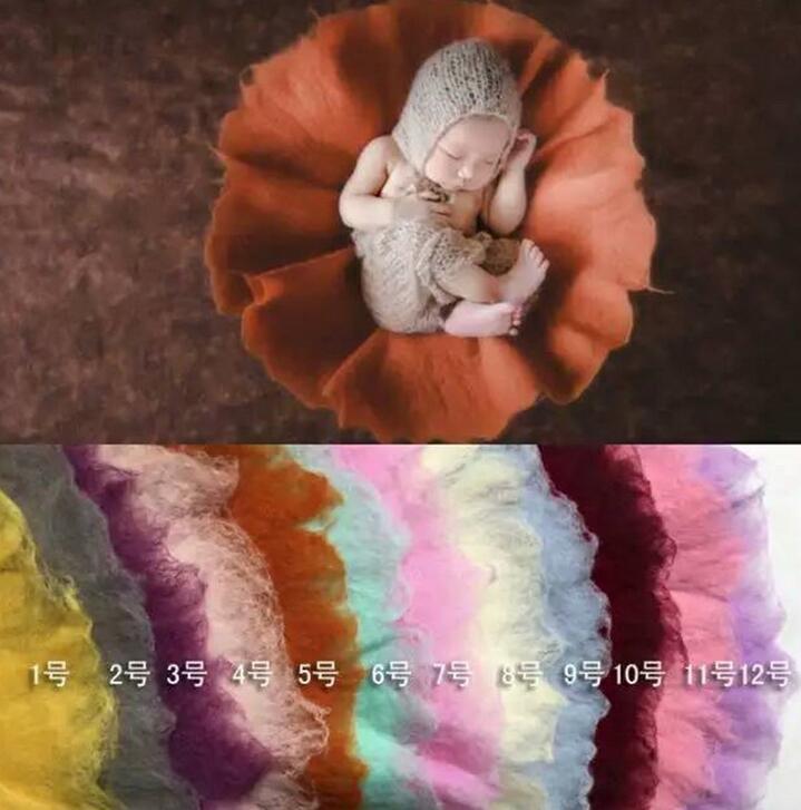 Реквизит для фотосъемки новорожденных круглый мокрый шерстяной войлок полная луна сто дней детское одеяло новый горячий Фон фотографии