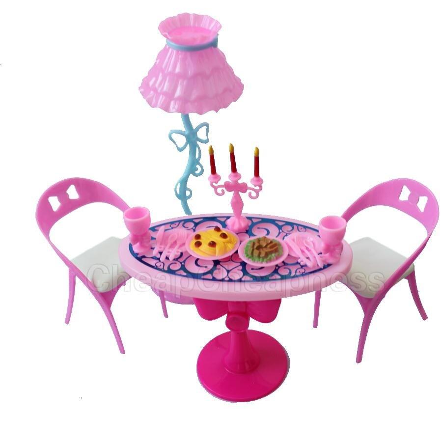1 Juego de mesa Vintage sillas para muñecas conjuntos de muebles de...
