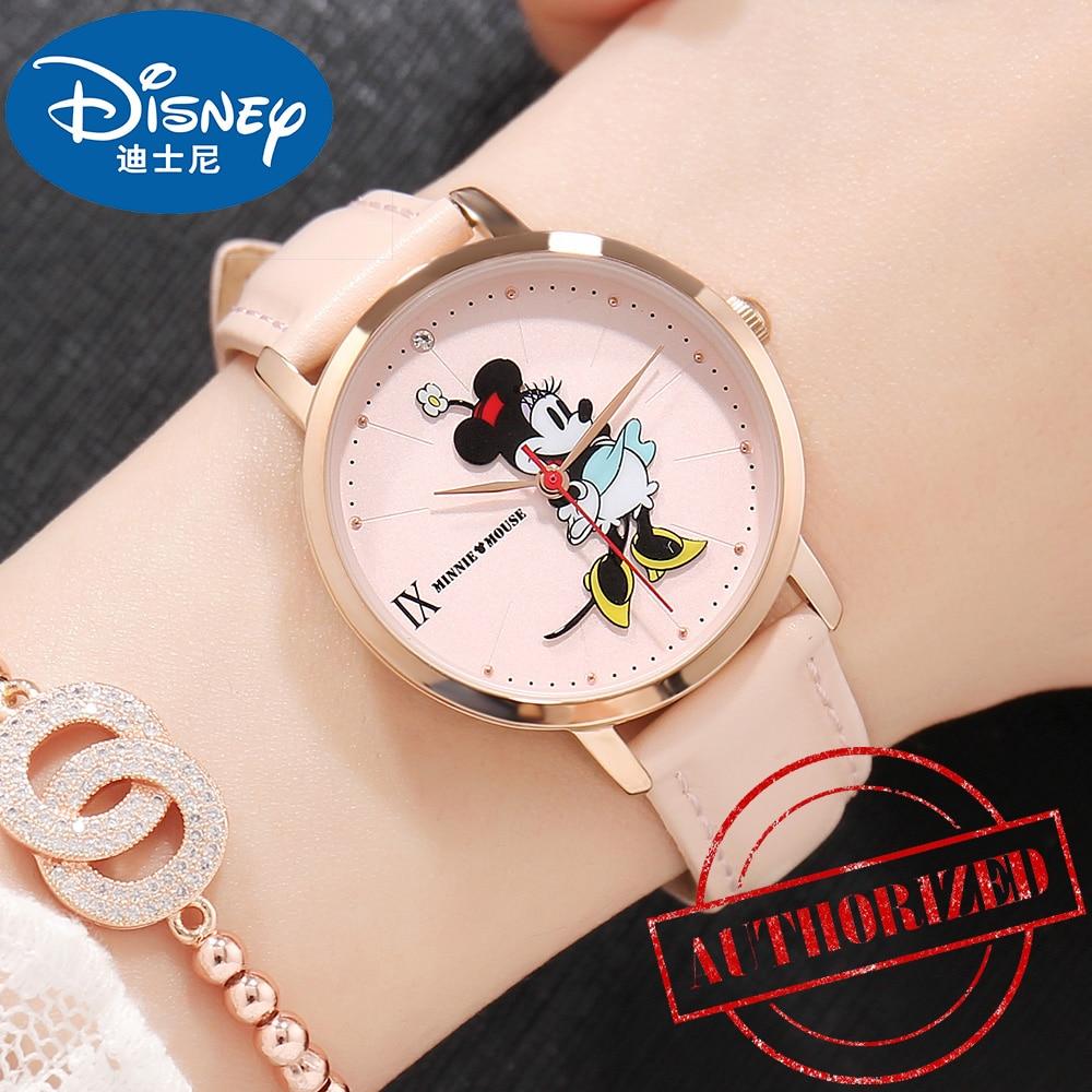 Relojes Dinsey Mickey Mouse de lujo para mujer, relojes de pulsera de cuarzo famosos para mujer, reloj femenino Hodinky Montre Femme