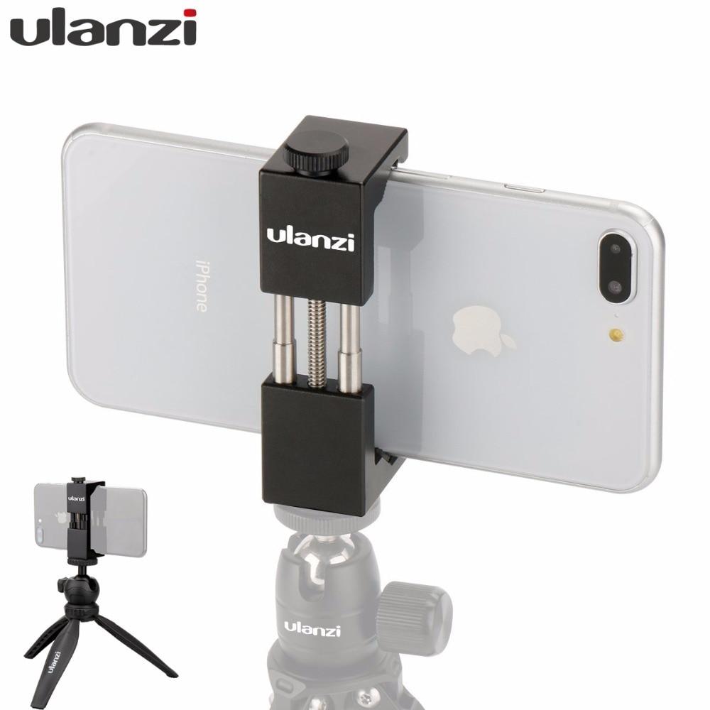 Ulanzi Metal Smartphone Tripod Mount Holder for iPhone Samsumg,U-30 Ballhead Tripod Head Mount for DSLR Digital Camera LED Light