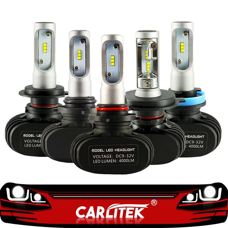 CARLitek N1 12V 24V H7 H4 Led-lampen Dioden Automobil 50W 8000LM H8 H9 HB3 HB4 H1 h11 Led Auto Scheinwerfer Nebel Licht 6000K Auto