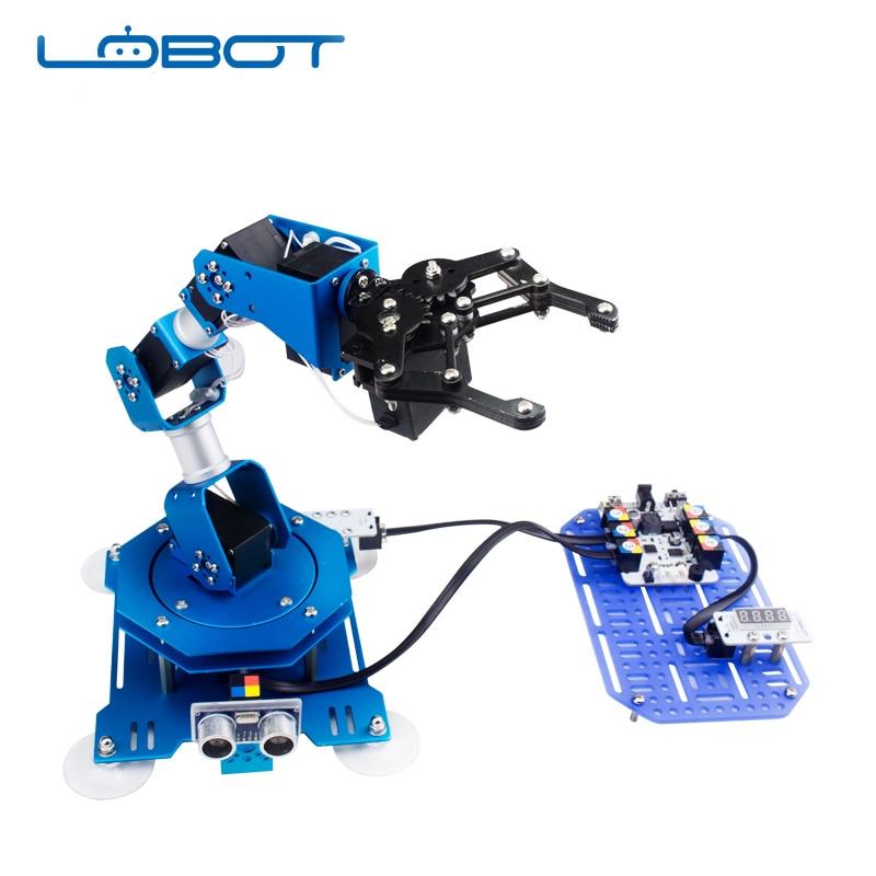 Industrial 6 DOF Robot Arduino cero Servo brazo, fachada parámetro comentarios Control remoto RC piezas de Robot