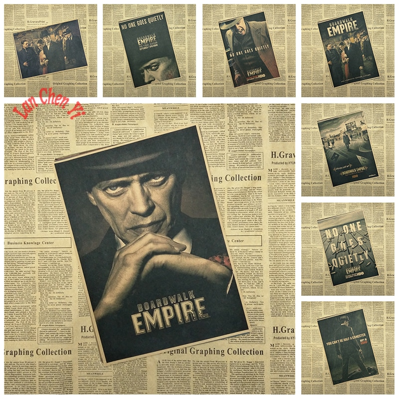 Наградами фильм Boardwalk Empire Винтаж крафт-бумага постер кафе декоративная живопись