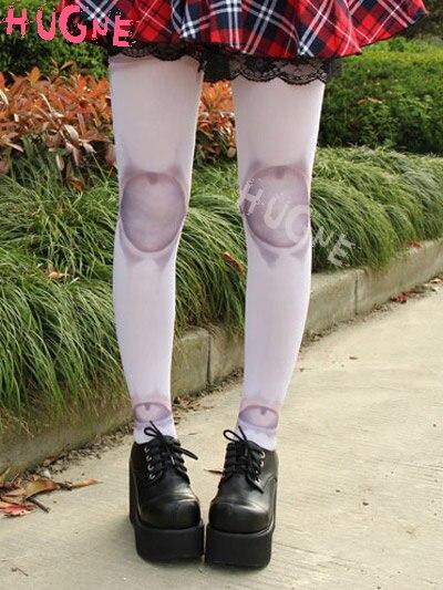 Pantimedias de nailon gótico japonés Lolita estampado de arte BJD SD para verano