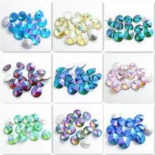 Wholesale Color AB 5pcs XILION ELEMENTS Crystal glass Rivoli loose Beads DIY 18mm