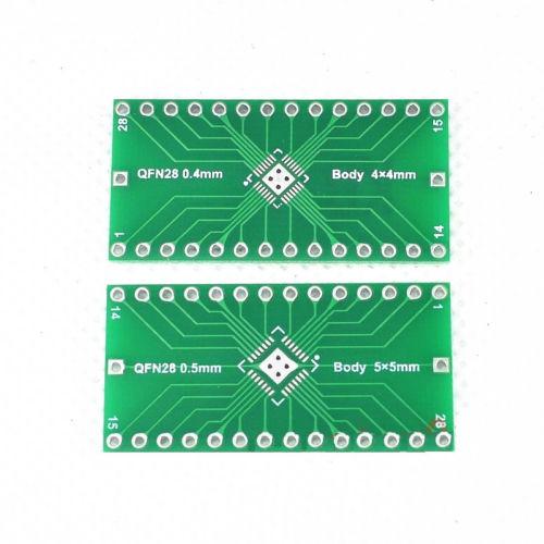 5 uds QFN28 0,4mm de 0,5mm a 2,54mm adaptador DIP convertidor de placa PCB de circuito