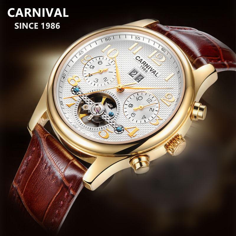 2020Switzerland Carnival tourbillon Automatic Mechanical watch men full steel waterproof Men Watches Clock reloj erkek kol saati