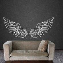Autocollant Mural ailes dange   Stickers en vinyle, oiseau dieu grandes ailes, décor de maison, Art Mural chambre dortoir pépinière salon,