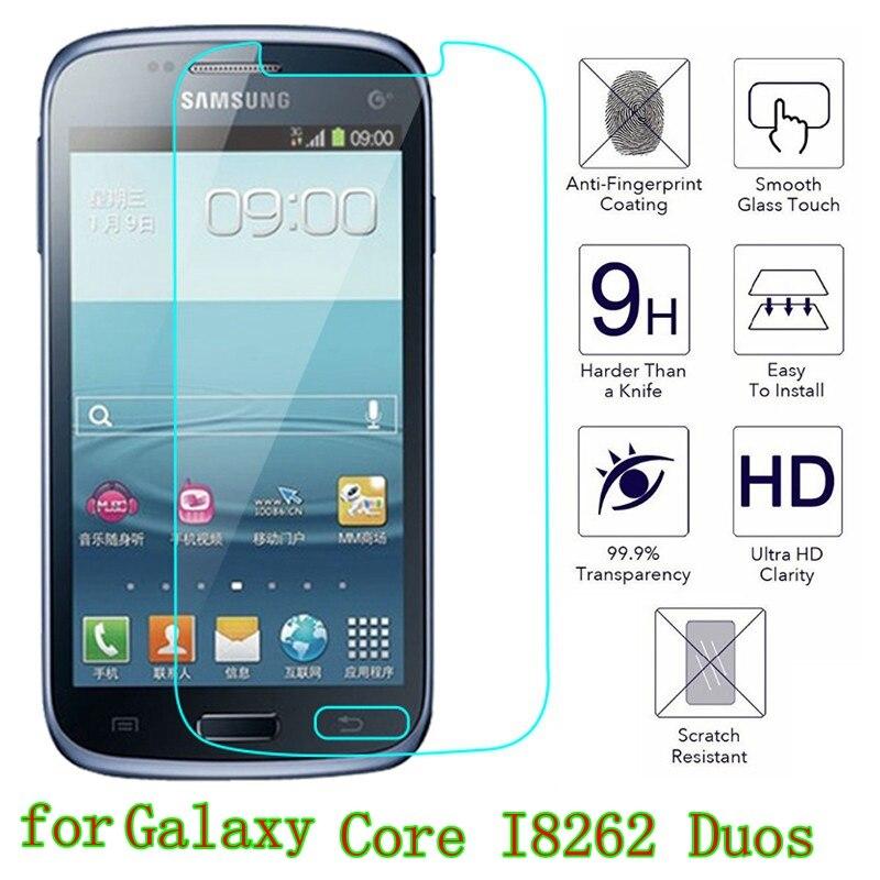 Película de vidro temperado para samsung, galaxy core i8262 duos GT-I8262 8260 premium, película protetora de tela