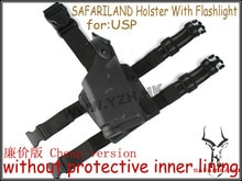 EMERSON Tactical DropLeg Holster voor USP Airsoft met zaklamp BD2292