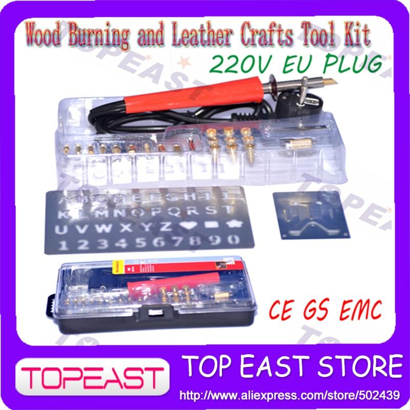 220V EU PLUG Pyrography wood 2016 New Models Tool Wood Burning Craft Woodburning Pen Constant Temperature Pyrography Tool