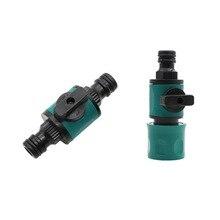 Joint de 16mm à 16mm à connecteur rapide   Avec vanne, système dirrigation de jardin, raccords rapides, accessoires fournitures de jardin 1 pièces