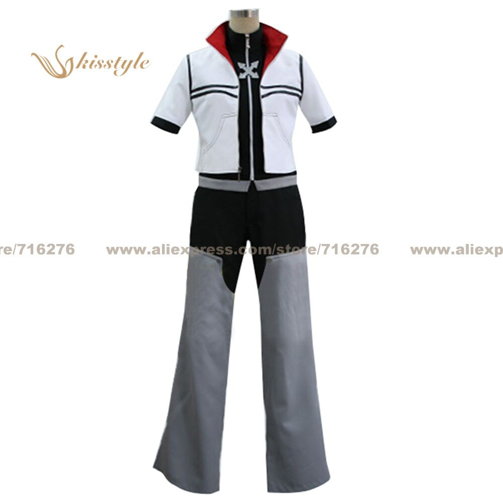 Kisstyle Fashion Kingdom Hearts II 2 Roxas Uniform COS Clothing Cosplay Costume,Customized Accepted