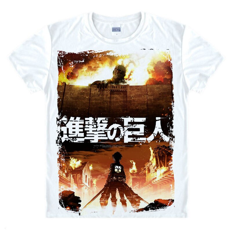 Camiseta japonesa de Anime, ropa de la Legión de exploración Shingeki No Kyojin, camiseta ataque a Titán, camiseta de manga corta gigante