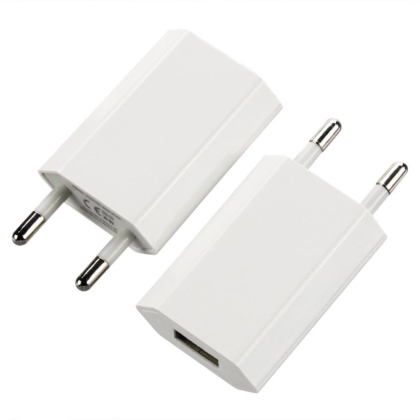 Cargador de pared multifunción para móvil, Adaptador de corriente de 5V Micro Usb, CA, blanco, para Iphone 7, 6, 5, 4, Xiaomi, 500p