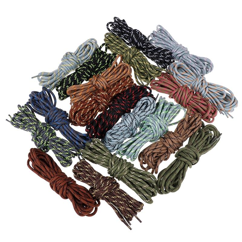 2 pares, bota deportiva de 140cm, cordón atlético para zapatos, Cordones redondos, cordones para zapatillas, 19 colores
