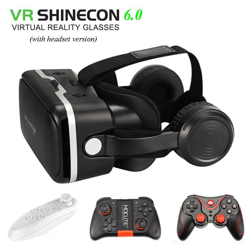VR SHINECON 6,0 vr caja 2,0 3d vr gafas de realidad virtual...