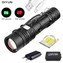 60000LM lampe de poche XHP50 lampe de poche LED USB Rechargeable torche Zoom lampe de poche T6 lampe de poche lanterne avec batterie 18650
