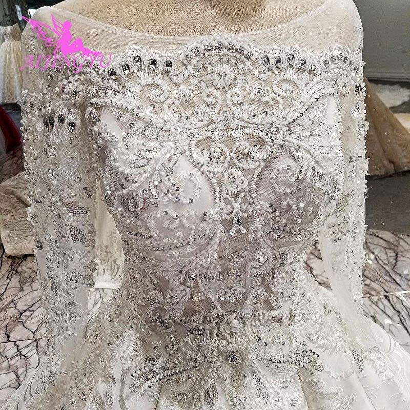 AIJINGYU فساتين الزفاف غير الرسمية خمر نمط فساتين الخطوبة الدانتيل المغربي Aliexpress تول فستان حمل